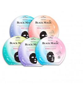 Black Magic - Тканевые маски с бамбуковым  углём